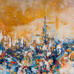City IV, oil on canvas, 160x120 cm, 2014.