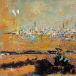 Cityscape 15/02, oil on canvas, 15,5x15,5 cm, 2015.